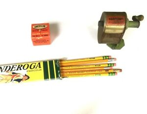 Vintage arrow wall desk mount pencil Sharpener Pencils Thumb Tacks