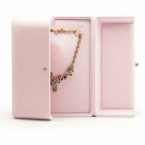 Jewelry Boxes Pink Velvet Packaging Large Necklace Display Storage Case Gift