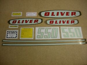 Oliver 550 Gas Tractor Decal Set New Free Shipping