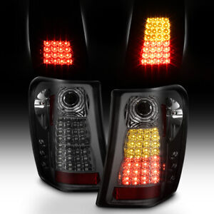 Smoke 1999 2004 Jeep Grand Cherokee Lumiled Led Tail Lights Lamps 99 01 02 03 04