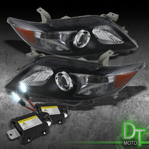For Slim 8000k Hid Black 10 11 Camry Projector Headlights Headlamps Left Right