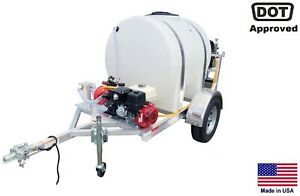 Sprayer Commercial Trailer Mounted Electric Reel 335 Gallon Highway Ready