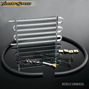 Universal Aluminum Remote Transmission Oil Cooler 16 5 8 X 7 5 8 X 3 4 Kit