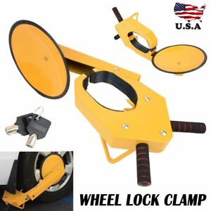 Parking Boot Car Tire Claw Atv Rv Wheel Clamp Boat Truck Trailer Lock Anti Theft