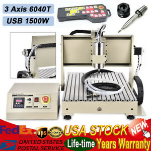 Usb 6040 1500w 3 Axis Cnc Router Engraver Milling Cutting Machine Controller