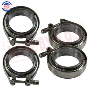 4 Pcs 2 5 Inch Flange Clamp Kit For Turbo Exhaust Downpipes Stainless Steel