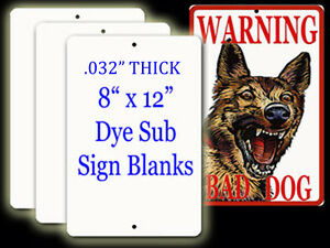 Aluminum Dye Sublimation Parking Sign Blanks 032 Thick X 8 x 12 1 95 Each