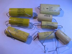 Assorted Poly Film Capacitor Grab bag Used Qty 8