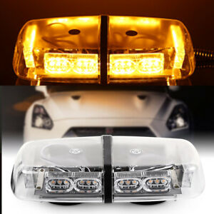 Roof Top Strobe Light Bar 36 Led Security System Emergency Beacon Flash Amber