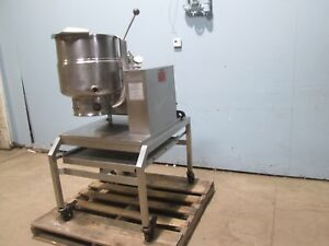 groen H d Commercial Natural Gas 40 Qt S s Steam Jacketed Kettle Station