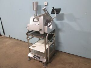 bizerba Se 12 Us Hd Commercial Auto Meat Slicer W face To Face Slicer Stand
