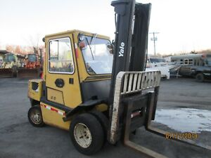 1999 Yale Gasoline 10 000 Lbs Forklift With Cab Model Gp100 vx