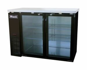 48 Glass Door Back Bar Beer Cooler Refrigerator Migali C bb48g hc Nsf New 9664