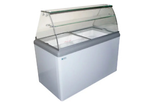 New 6 Flavor Ice Cream Dipping Cabinet Freezer Excellence Hbd 6hc 9672 Cabinet