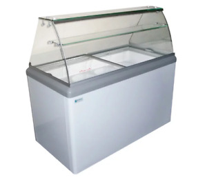 New 8 Flavor Ice Cream Dipping Cabinet Freezer Excellence Hbd 8hc 9673 Case Nsf