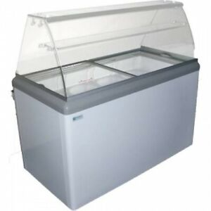 New 7 Pan Flavor Gelato Dipping Cabinet Display Freezer Excellence Hbg 7hc 9679