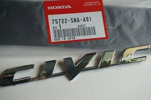 Honda Civic 06 11 Trunk Emblem Rear Badge Nameplate 75722 Sna A01 Logo Word Si