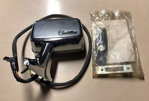 New Old Stock 1970 s 80 s Cadillac Drivers Side L h Power Control Heated Mirror