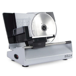 Stainless Steel Meat Vegetable Cheese Bread Electric Blade Slicer 8 7 180w