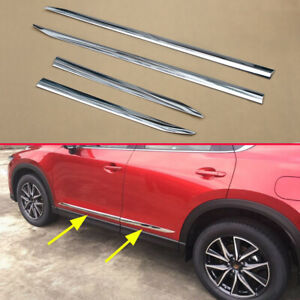 For Mazda Cx 5 2017 2019 Accessories Chrome Door Body Strips Molding Trims