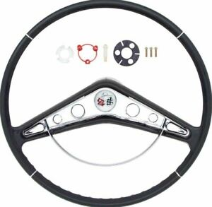 Oer 17 Steering Wheel With Horn Ring And Emblem 1959 1960 Chevy Impala