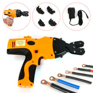 Battery Powered Crimping Tool handheld Electric Cable Wire Crimper Crimp Pliers