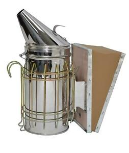 Vivo Bee Hive Smoker Stainless Steel W heat Shield Beekeeping Equipment Bee v001