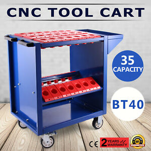 Bt40 Cnc Tool Trolley Cart Holders Toolscoot Rolling 4 Wheels Service Cart