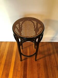 Italian Antique Bentwood And Cane Cafe Stool