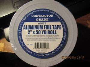 Case Of 12 Contractor Grade Aluminum Foil Tape 2 X 50 Yd White