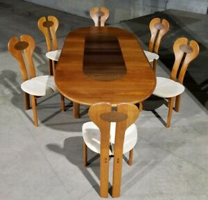 Nordisk Andels Teak Rosewood Dining Table Chairs Ask For A Shipping Quote