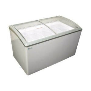 New 7 Basket Sliding Curved Glass Lid Top Ice Cream Freezer Nsf Excellence Vb 7h