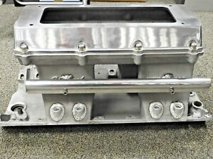 Efi Tunnel Ram 7075 Edelbrock W Fuel Rails Top Bungs Bb Chev Hat Or Tb