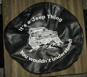 Custom Jeep Xl Spare Tire Cover Black Leather It S A Jeep Thing Understand