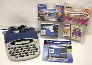 Brother P touch Pt 1750 Label Thermal Printer 1 Partial And 3 New Tapes