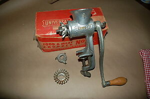 Universal Food Meat Chopper No 1 W 2 Different Attachments Original Box