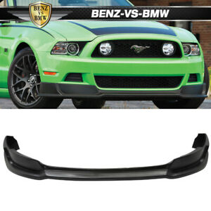 Fits 13 14 Ford Mustang Front Bumper Lip Unpainted Black Poly urethane