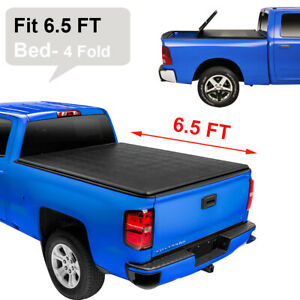 4 Fold Truck Tonneau Cover For 2014 2018 Toyota Tundra 6 5ft Bed Models Only