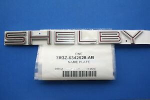 Mustang Shelby Gt500 Emblem Brand New Oem Trunk Deck Ford Mustang 2007 2009