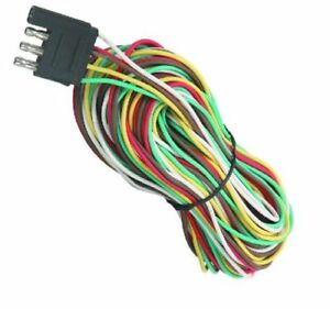 25 4 Way Trailer Wiring Connection Flat Wire Extension Harness Wishbone