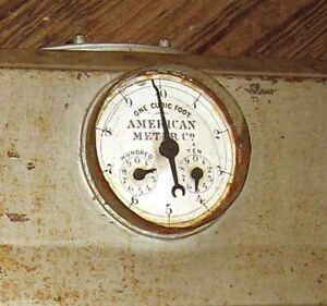Unusual Portable C1880s American Meter Company One Cubic Foot Readout Gas Meter