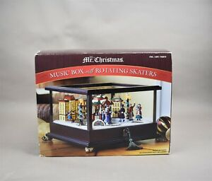 Mr Christmas Music Box With Rotating Skaters 25 Christmas Carols No Power Cord