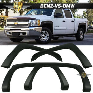 Fits 07 13 Chevy Silverado 1500 Short Bed Oe Factory Style Pp Black Fender Flare