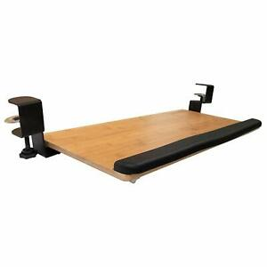 Keyboard Tray Clamps On Under Desk Ergonomic Drawer Slides For Mouse And Keyboar
