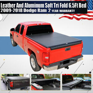 6 5 Truck Bed T3 Tri Fold Tonneau Cover For 2009 17 18 Dodge Ram 1500 2500 3500