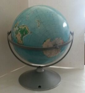 Vintage Aj Nystrom Dual Axis 12 Structural Relief Globe 1949