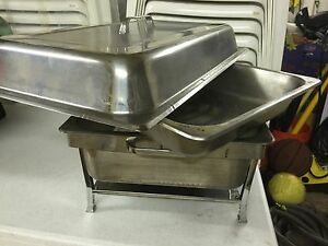 One Chafing Dish 8 Qt Stainless Steel Full Size Buffet Tray Set Please Read