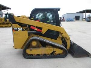 2016 Caterpillar 249d Cab Heat Air Track Skid Steer Loader Cat 249 249d