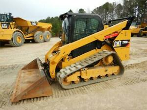 2016 Caterpillar 299d2 Cab Heat Air Track Skid Steer Loader Cat 299 299d2