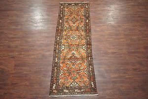 Antique 3x10 Herati Malayer Runner 1930 S Hand Knotted Wool Area Rug 3 3 X 9 9